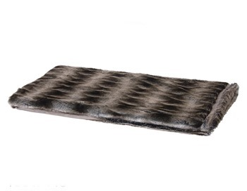 Light Brown Faux Fur Throw