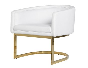 White Dining Chair Gold Frame