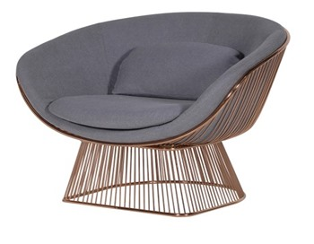 Grey Spoked Relax Chair