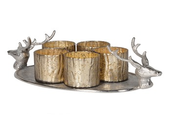 Deer Tray with Votives