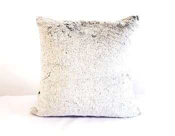 White and Grey Fluffy Cushion Cover
