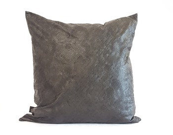 Black textured cushion cover
