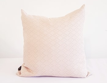 Powder Pink Patterned Cushion cover