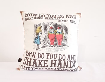Alice in Wonderland cushion - How do you do