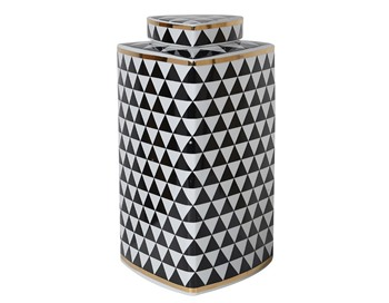 Geometric Monochrome Jar