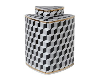 Optical Illusion Art Monochrome Jar