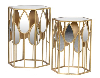 Tear drop Mirror side tables