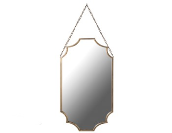 Matt Gold Shaped Wall Mirror