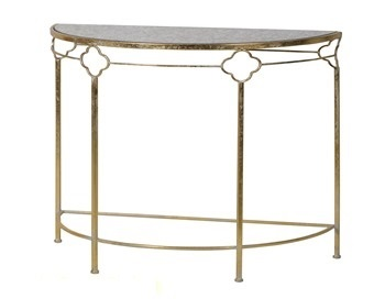 Metal Demi-Lune Hall Table