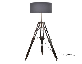 Tripod Lamp with Grey Shade