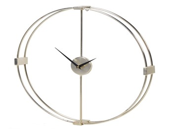 Silver Ring Wall Clock