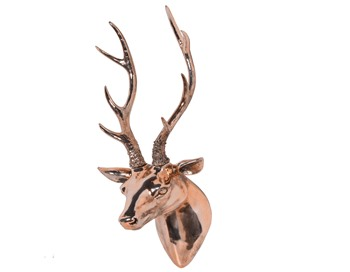 Copper Deer Wall Hanger