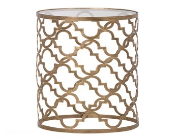 Moorish Metal Drum Table