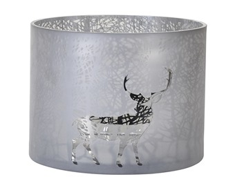 Silver Forest Candleholder