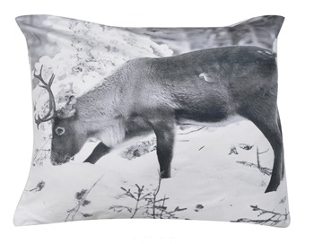 Grazing stag cushion